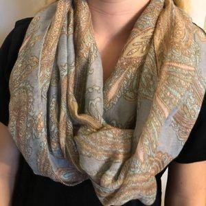 Paisley infinity scarf